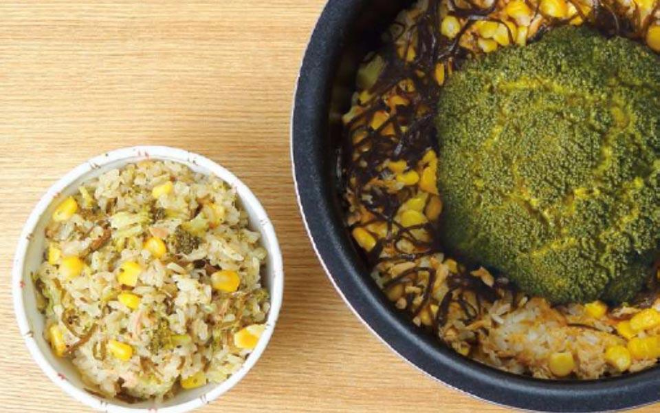 ブロッコリー丸ごと炊き込みご飯